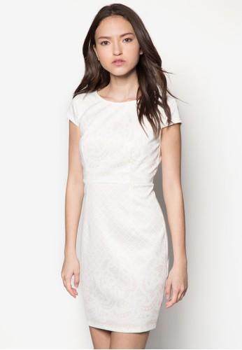 Coleenzalora 折扣碼 蕾絲印花連身裙, 服飾, 洋裝