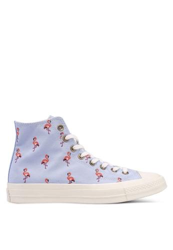 Converse blue Chuck Taylor All Star 70 Hi Sneakers 0CFCFSH69F7E6BGS_1
