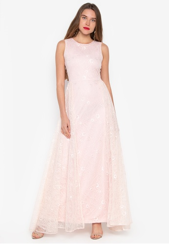 423cb2561fc3d0 Shop Daria Paris Sleeveless Lace Formal Evening Gown Online on ZALORA  Philippines