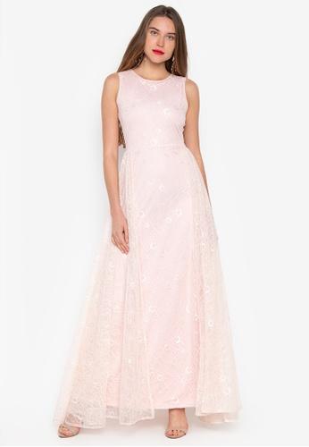 Daria pink Paris Sleeveless Lace Formal Evening Gown 8206EAAB82EDDCGS_1