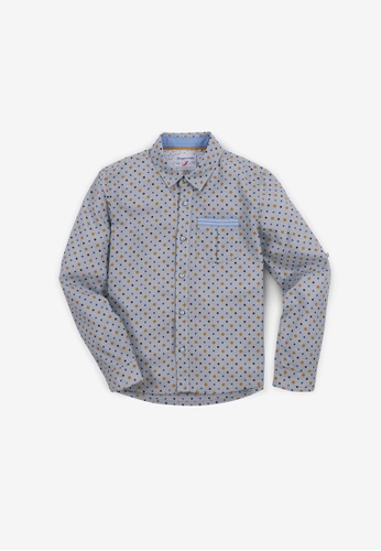 Gingersnaps multi Boys Dot Diamond Print Long Sleeves Shirt 28665KAD4226A3GS_1