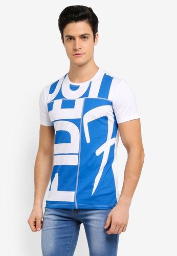 Fidelio white Cut & Sew Casual Round Neck T-Shirt CA2FCAA75F229EGS_1