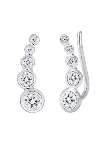 Elli Germany silver Perhiasan Wanita Perak Asli - Silver Cuff Circle Swarovski® Crystal Silver 3FFDFAC300283EGS_1