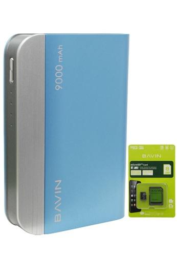 BAVIN blue Portable Powerbank 9000mAh with FREE Bavin Memory Card 8GB with Adapter 17EADAC85FE036GS_1