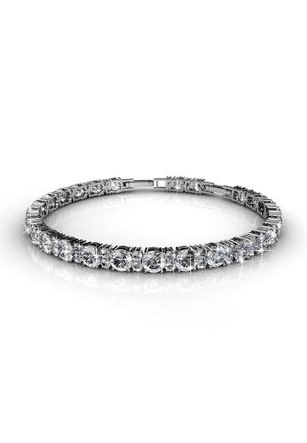 Her Jewellery white Swarovski® Crystals - Joyous Bracelet (White Gold)- (18K White Gold Plated) Her Jewellery HE581AC0RDGAMY_1