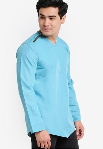Amar Amran blue Kurta Yusuf AM362AA95JWEMY_1