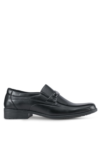 Rocklander black Slip On Dress Shoes RO978SH0SMM4MY_1