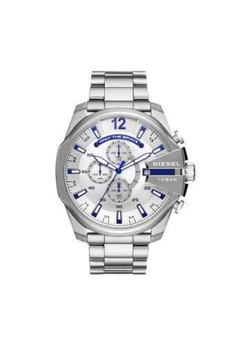 Diesel silver Mega Chief Watch DZ4477 24797ACD8BC5BFGS_1