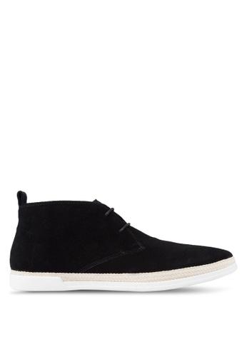 Dune London black Cantero Espadrille Trim Chukka Boots DU588SH03UDCMY_1