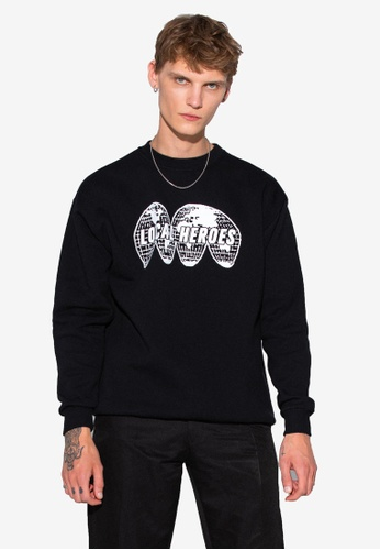 Local Heroes black Map Sweatshirt C1544AA5A1FFBCGS_1