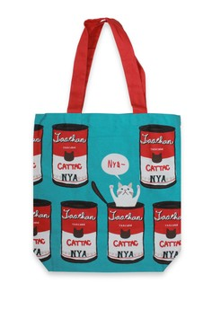 Cat In Can Tote Bag