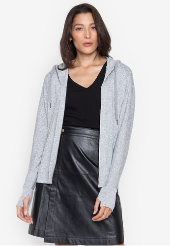 Seventh Cherie grey Long Sleeves Hoody Sweater 380DAAA4C876D9GS_1