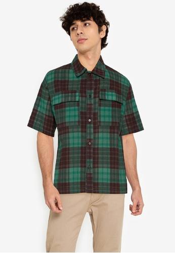 ZALORA BASICS multi Oversize Plaid Shirt 392AEAA48B307DGS_1