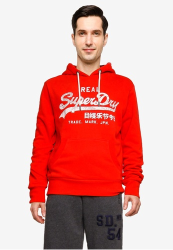 Superdry red Vintage Logo Rising Sun Hoodie 0EC10AA7DD1FF7GS_1