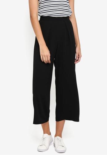 Dorothy Perkins black Black Popcorn Crop Trousers C3903AAA612BAAGS_1