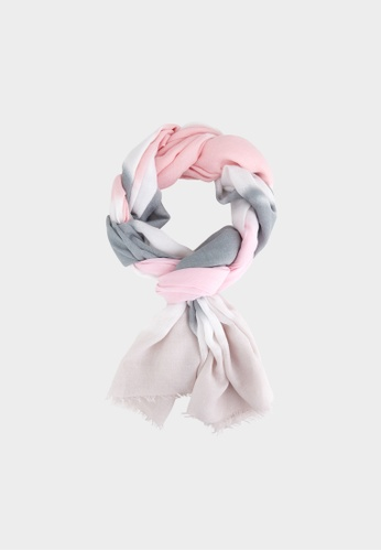 Pomelo pink Multi Color Rectangle Scarf - Light Pink 45010AAD91CC64GS_1