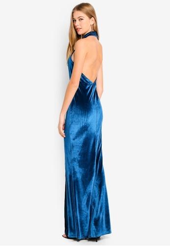 c5d69282a8 Buy MISSGUIDED Velvet Choker Maxi Dress Online on ZALORA Singapore