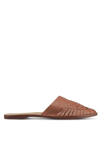 TOPSHOP brown Amie Woven Mules F8C19SHAA680DCGS_1