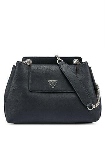 Guess black Sandrine Shoulder Satchel Bag 74E28AC65FA89AGS_1