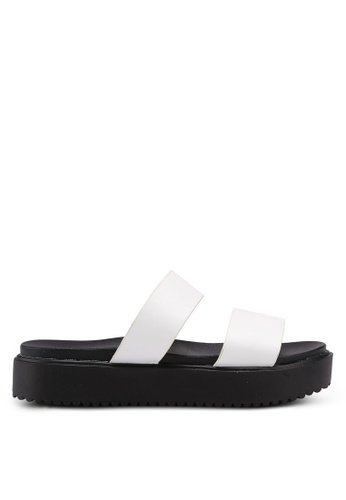 Bata 白色 雙繞帶厚底涼鞋 E741FSHB742012GS_1