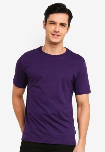 Burton Menswear London 紫色 Purple Reign Crew Neck T-Shirt 2192DAA9785661GS_1