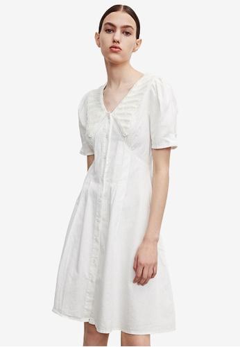 Urban Revivo white Collared Dress E9569AAB75076CGS_1