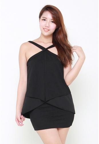 Leline Style black Kimmy Flare Dress LE802AA03XWMSG_1