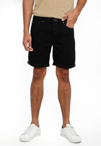 !Solid black Light Ryder Shorts 8F0B1AAFBCB8A1GS_1