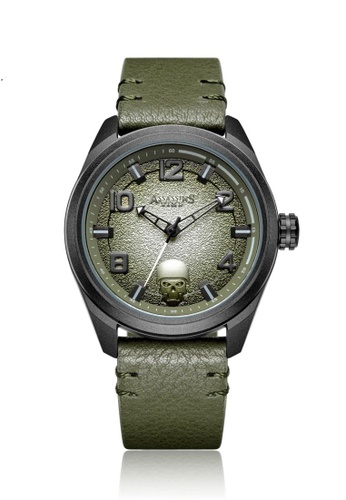Assassin's Time green Assassin's Time TIMBER Green Leather 9FEC8AC56C7BA4GS_1