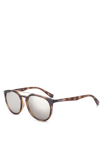 Emporio Armani brown Tortoise Shell EA4103F Sunglasses EM212GL60QUHMY_1