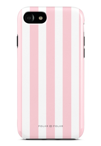 Polar Polar pink Baby Pink Stripe Dual-Layer Tough Case Glossy For iPhone SE (2nd) / 8/7 CAAB0ACFF321AEGS_1