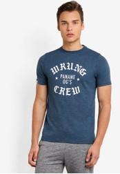 Wrung blue Da Crew T-Shirt WR395AA87MPOMY_1