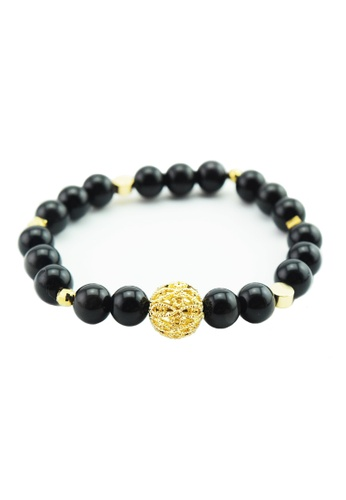 Memento Collection black Signature Obsidian Bracelet with Hollow ME060AC59HEIMY_1