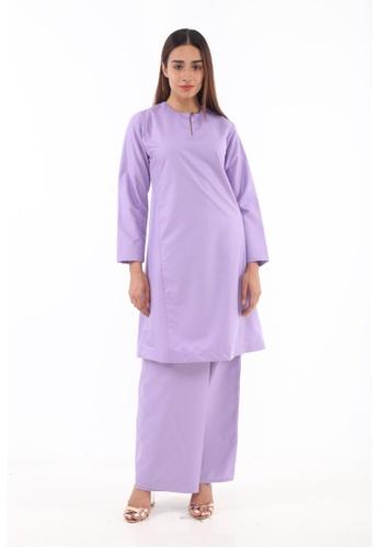 Baju Kurung Pahang Qirana from Amar Amran in Purple