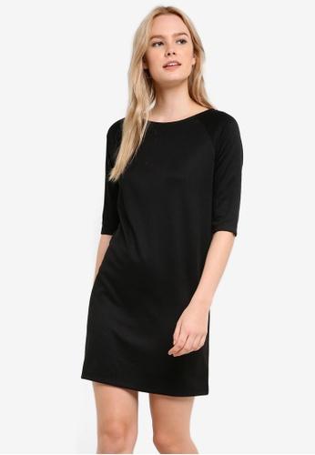 ZALORA black Basic Three Quarter Sleeve Shift Dress EFEF1AA1029804GS_1