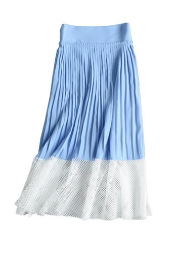 Sunnydaysweety blue Stitching Pleated Skirt C070699 SU219AA0GQ7DSG_1