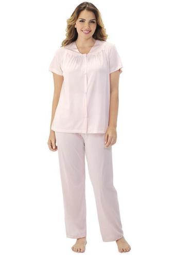 Exquisite Form pink Short Sleeve Pyjama Set 65D6AAA3EDD93DGS_1