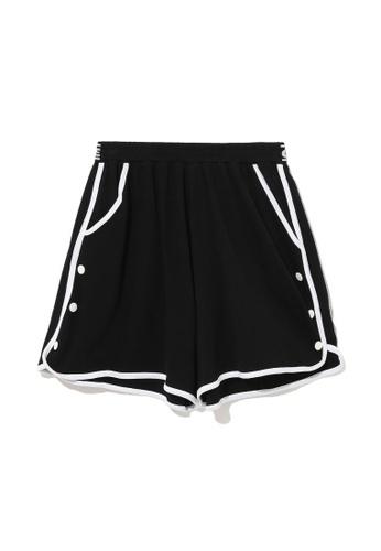Mini cream black Popper sides sweat shorts 63651AAF5AE16AGS_1