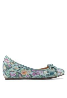 蝴蝶結印花內增高娃娃鞋