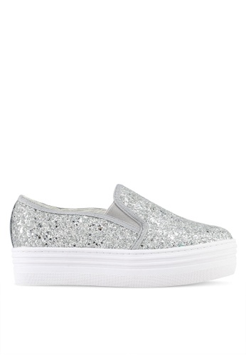 Something Borrowed silver Glitter Slip-Ons 97BA4SH320A642GS_1