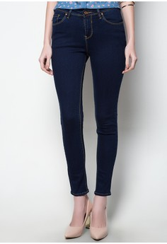 Modified Fashion Skinny Denim St. Mid Waist Overdye Pants