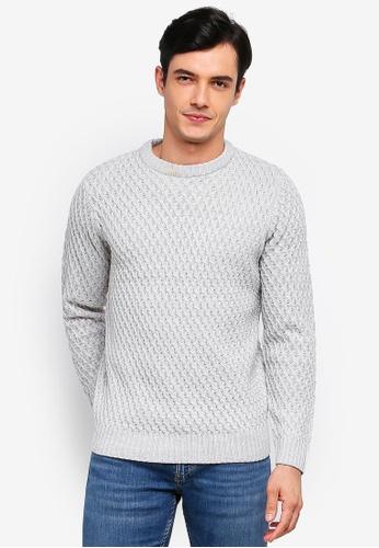Burton Menswear London 灰色 圓領上衣 0C612AAD484815GS_1