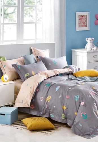 Epitex pink and purple Epitex CK2030-7 900TC Cotton Bedsheet / Bedset (w quilt cover). ABEC6HL8BD1BA4GS_1