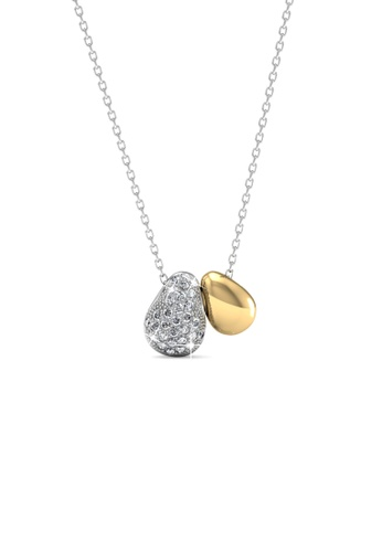 Her Jewellery multi Swarovski® Crystals -Lucky Bean Pendant (18K White Gold Plated) Her Jewellery HE581AC0RDH4MY_1