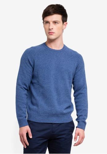 Brooks Brothers 藍色 羊毛圓領套頭衫 B1E93AAFC2C667GS_1