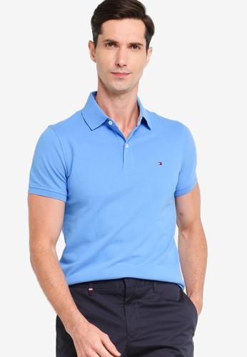 Tommy Hilfiger 藍色 Stretch Slim Fit Polo Shirt FC55EAAF43D2EFGS_1