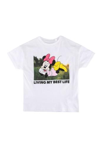 FOX Kids & Baby white Kids-Girls Minnie Print Graphic Tee 70FD9KADD7A4B3GS_1