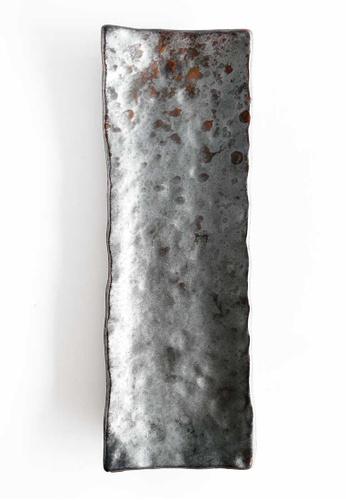 KRA Sanctuary grey Charcoal Grill Serving Platter (Large) CF2D1HLDFCDBB2GS_1