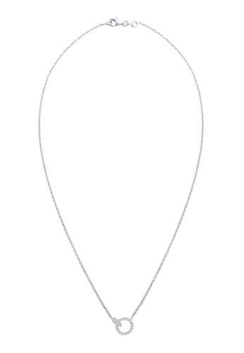 Elli Germany silver Elli Germany 925 Sterling Silver Circles Swarovski® Crystal Necklace EL474AC46GTLMY_1