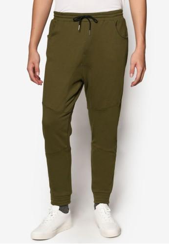縫合細節底檔慢跑褲,esprit暢貨中心 服飾, 直筒褲